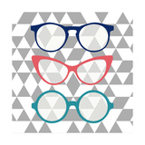Fashion Glasses Poster par Bella Dos Santos