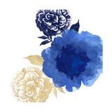 Happy Garden Blue Affiches par Bella Dos Santos