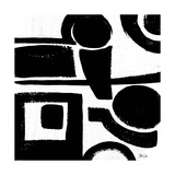 Black and White Abstract II Posters par Shanni Welsh