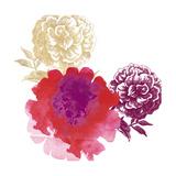 Happy Garden Reds Poster par Bella Dos Santos