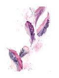 Purple Feathers II Plakater av Sophia Rodionov