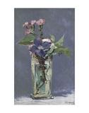 Carnations and Clematis in a Crystal Vase Kunst af Edouard Manet