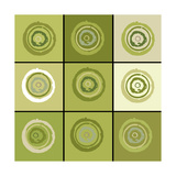 Concentric Sage Prints by Ricki Mountain