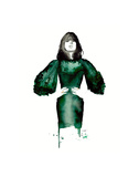 The Emerald Green Dress Affiches par Jessica Durrant
