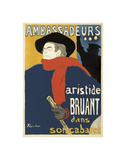 Ambassadeurs: Aristide Bruant, 1892 Láminas por Henri de Toulouse-Lautrec