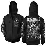 Zip Hoodie: Behemoth - Behemoth Amen Huvtröja med dragkedja