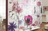 Purple Wallpaper Mural