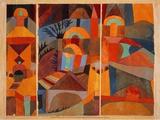 Temple Gardens, 1920 Posters av Paul Klee