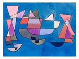 Sailing Boats, 1927 Print by Paul Klee