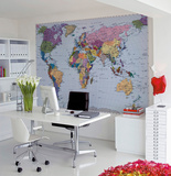 Världskarta Bildtapet