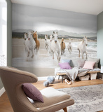 White Horses Wallpaper Mural