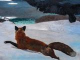 Fox Hunt, 1893 Kunst af Winslow Homer