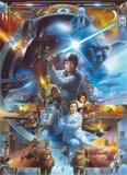 Star Wars - Luke Skywalker Collage Tapetmaleri