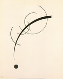 Free Curve to the Point - Accompanying Sound of Geometric Curves, 1925 Plakater af Wassily Kandinsky