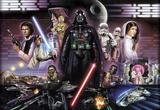 Star Wars - Darth Vader Collage Wandgemälde