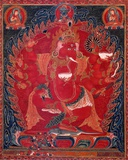 Dancing Red Ganapati of the Three Red Deities, 15-16th c Poster af Unknown,