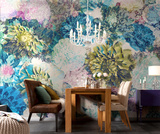 Frisky Flowers Wallpaper Mural