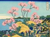 The Fuji from Gotenyama at Shinagawa on the Tokaido Pôsteres por Katsushika Hokusai