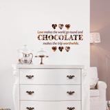 Sjokolade Veggoverføringsbilde