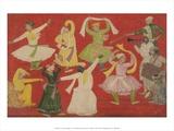 Dancing Villagers, 1730 Print by Pandit Seu