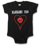 Infant: Alkaline Trio - ALK3 Heart Skull Onesie Vauvan body