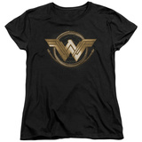 Womens: Wonder Woman Movie - Lasso Logo T-Shirt