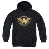 Youth Hoodie: Wonder Woman Movie - Lasso Logo Pullover Hoodie