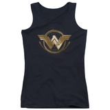 Juniors: Wonder Woman Movie - Lasso Logo Tank Top Womens Tank Tops