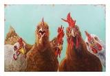 Chicken for Dinner Prints by Lucia Heffernan