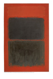 Rojo claro sobre negro Lámina giclée por Mark Rothko