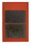 Rosso chiaro su nero Stampa giclée di Mark Rothko