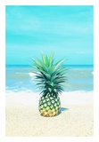 Pineapple on the Sand Poster by  Tai Prints