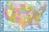 Kart over USA Posters av Max Kendricks
