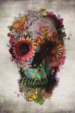 Flower Skull Stampe di Ali Gulec