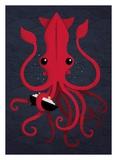 Kraken Attaken Poster af Michael Buxton