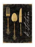 Golden Utensils Premium Giclee Print by Jace Grey