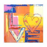Love Heart Reproduction procédé giclée par Ben Bonart