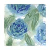 Blue Green Roses I Metalltrykk av Beverly Dyer