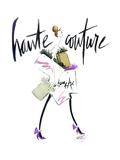 Haute Couture Purple Stampa di Alicia Zyburt