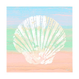 Pastel Coastal 1 Arte sobre metal por Alonza Saunders