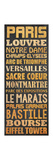 Paris Type Poster by Lauren Gibbons