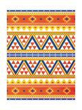 Aztec Pattern Colors Kunstdrucke von Jace Grey