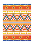 Aztec Pattern Colors Premium Giclee Print by Jace Grey