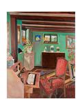 Monk's House Drawing Room Reproduction procédé giclée par Lottie Cole
