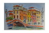 Venice, Canal, Dorsoduro, 2015 Reproduction procédé giclée par Anthony Butera