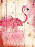 Flamingo Henna Premium Giclee Print by Jace Grey