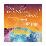 The World is A Book Metal Print by Lauren Gibbons