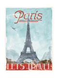 Lets Travel To Paris Premium Giclee Print by Jace Grey