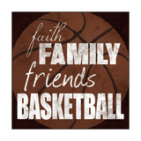 Basketball Friends Metal Print by Lauren Gibbons