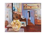 Charleston Studio with View to the Bedroom Reproduction procédé giclée par Lottie Cole